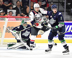 Austin Strand of the Seattle Thunderbirds in Game 3 of the 2017 MasterCard Memorial Cup against the Windsor Spitfires on Sunday May 21, 2017 at the WFCU Centre in Windsor, ON. Photo by Aaron Bell/CHL Images