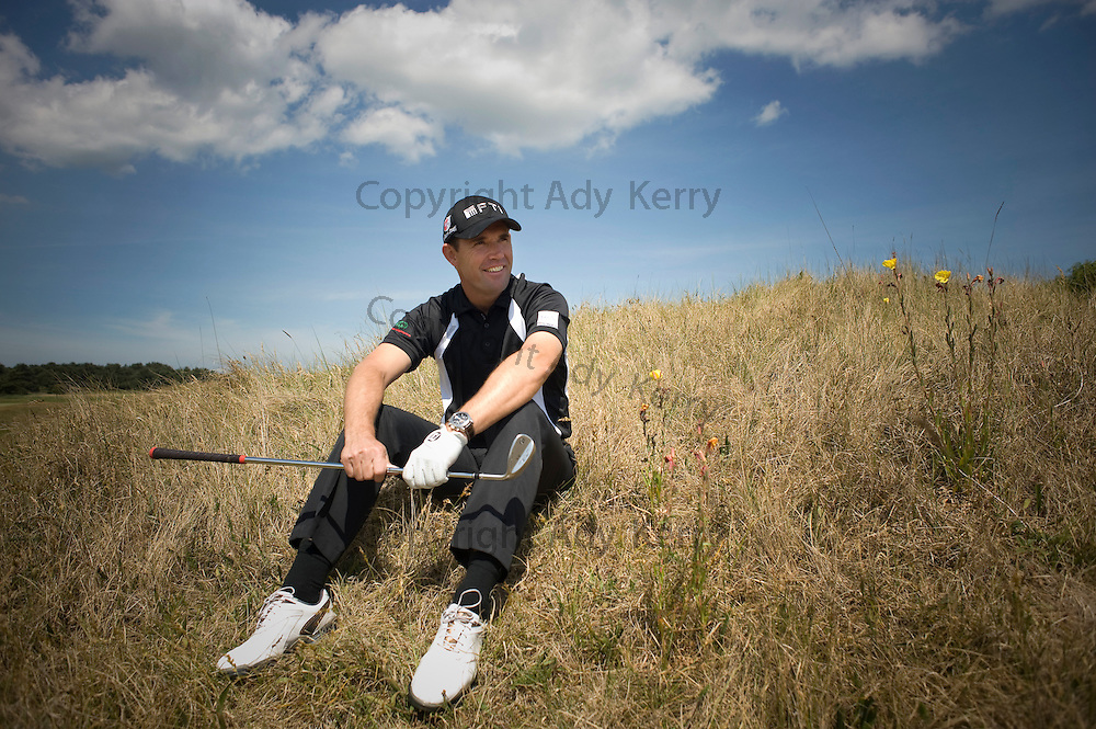 Padraig Harrington at Princes GC to open a new bunker on the Himalayas course, 1st June 2011