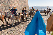 Cowboys tip their hats to a costumed Mary and Joseph leading a procession from the Cristo Rey shrine on top Cubilete Mountain at the end of the annual Cabalgata de Cristo Rey pilgrimage January 6, 2017 in Guanajuato, Mexico. Thousands of Mexican cowboys take part in the three-day ride to the mountaintop shrine of Cristo Rey which concludes on the Day of Epiphany.