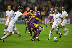 Hannu Tihinen vs Dragan Jelic at Third Round of Champions League qualifications football match between NK Maribor and FC Zurich,  on August 05, 2009, in Ljudski vrt , Maribor, Slovenia. Zurich won 3:0 and qualified to next Round. (Photo by Vid Ponikvar / Sportida)