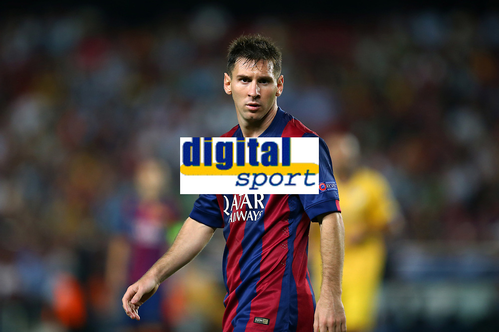 Lionel Messi of FC Barcelona during the UEFA Champions League, Group F, football match between FC Barcelona and Apoel FC on September 17, 2014 at Camp Nou stadium in Barcelona, Spain. Photo Manuel Blondeau / AOP.Press / DPPI