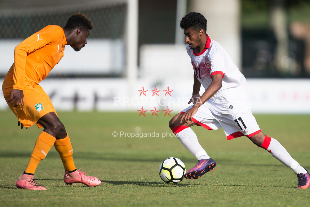 AUBAGNE, FRANCE - Tuesday, May 30, 2017: Bahrain's Khalid Almansoori Abdulaziz in action during the Toulon Tournament Group B match between Bahrain and Ivory Coast at the Stade de Lattre-de-Tassigny. (Pic by Laura Malkin/Propaganda)