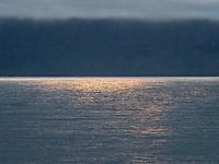 Sunset by Seyðisfjarðarflói, East fiords of Iceland.