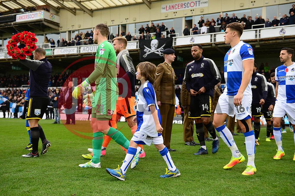 Mascot walk out  - Mandatory by-line: Dougie Allward/JMP - 18/11/2017 - FOOTBALL - Memorial Stadium - Bristol, England - Bristol Rovers v AFC Wimbledon - Sky Bet League One