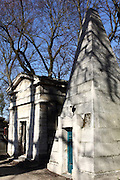 Various images from Père Lachaise Cemetery in western Paris, France