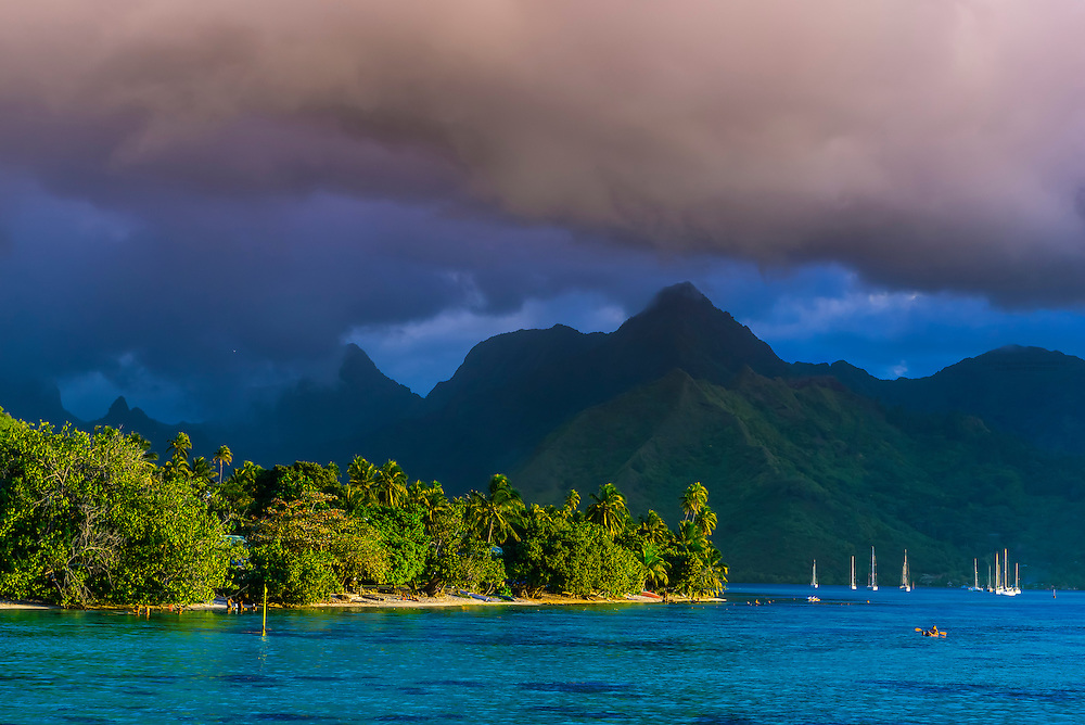 Island of Moorea, French Polynesia.