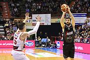 Ndoja<br /> Unieuro Forlì - Segafredo Visrtus Bologna<br /> Campionato Basket LNP 2016/2017<br /> Forlì, 02/04/2017<br /> Foto Ciamillo-Castoria/A. Gilardi