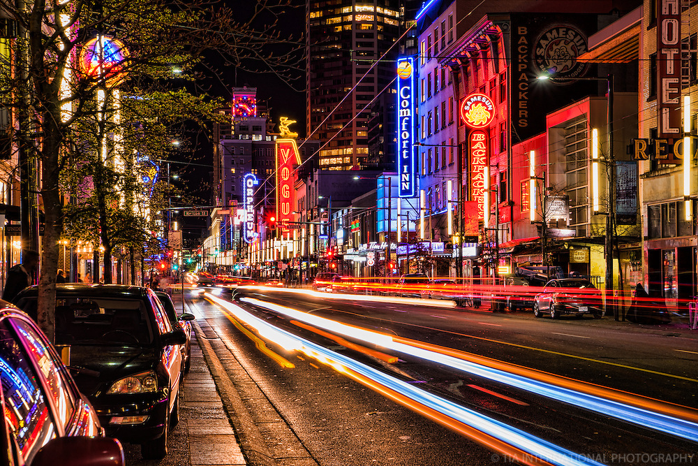 Nightlife on Granville Street, Vancouver