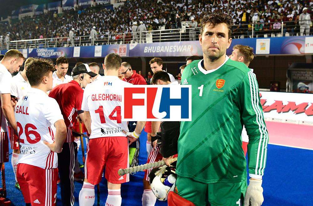 Odisha Men's Hockey World League Final Bhubaneswar 2017<br /> Match id:14<br /> England v Argentina<br /> Foto: keeper George Pinner (Eng) <br /> COPYRIGHT WORLDSPORTPICS FRANK UIJLENBROEK
