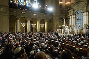 Rome jan 17th 2016, the pope meets the roman Synagogue. In the picture pope Francis