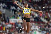 Chanice Porter (Jamaica), Long Jump Women - Final, during the 2019 IAAF World Athletics Championships at Khalifa International Stadium, Doha, Qatar on 6 October 2019.