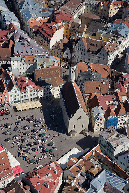 Aerial Photo of Old Medieval Hanseatic Tallinn, Estonia