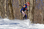 February 28, 2015 - Adams, MA: The 80th Anniversary of the Thunderbolt ski race was celebrated in the form of a Randonee race on the Thinderbolt trail on Mount Greylock.
