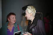 Jo Brand and Pinkietessa, ' Show Off' Theo Fennell exhibition co-hosted wit Vanity Fair. Royal Academy. Burlington Gdns. London. 27 September 2007. -DO NOT ARCHIVE-© Copyright Photograph by Dafydd Jones. 248 Clapham Rd. London SW9 0PZ. Tel 0207 820 0771. www.dafjones.com.