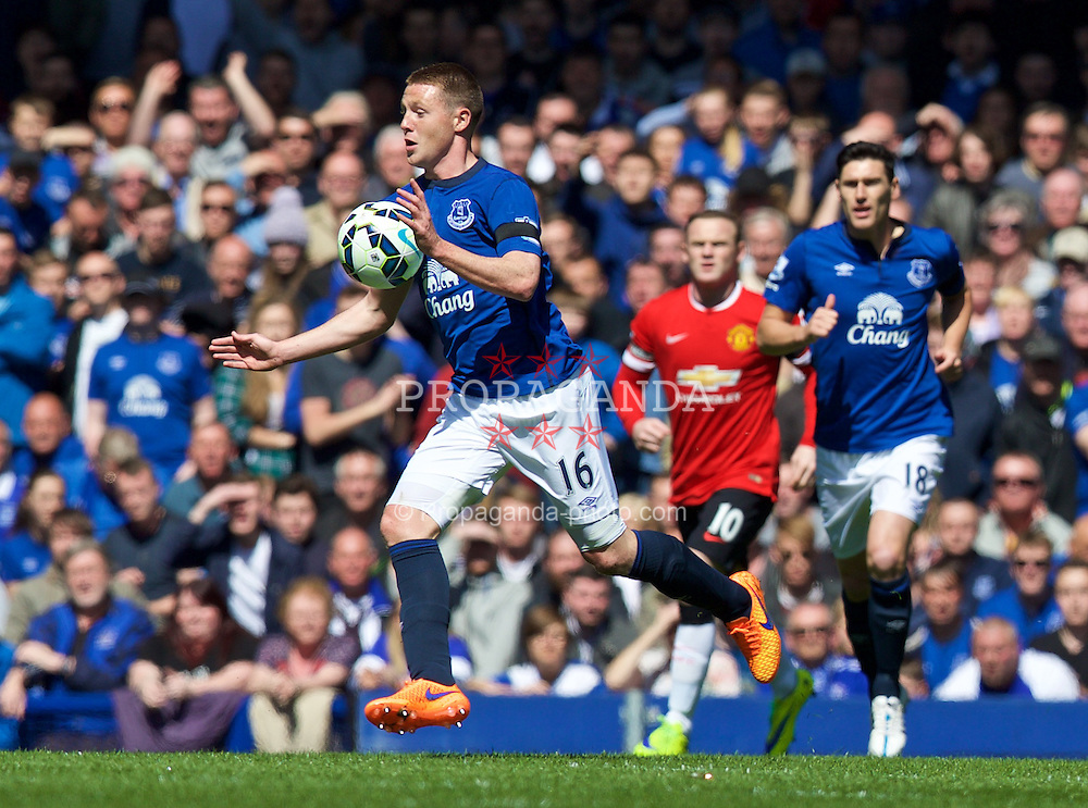 LIVERPOOL, ENGLAND - Sunday, April 26, 2015: Everton's James McCarthy in action against Manchester United during the Premier League match at Goodison Park. (Pic by David Rawcliffe/Propaganda)