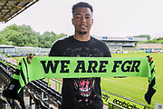 Forest Green Rovers signing Tahvon Campbell  at the New Lawn, Forest Green, United Kingdom on 31 May 2018. Picture by Shane Healey.