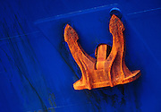 Image of an anchor on a freighter at the Port of Seattle, Washington state, Pacific Northwest