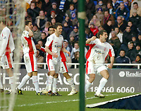 Photo: Kevin Poolman.<br />Reading v Birmingham City. The FA Cup. 28/01/2006.<br />David Dunn (R) and fellow Birmingham players celebrate their goal.