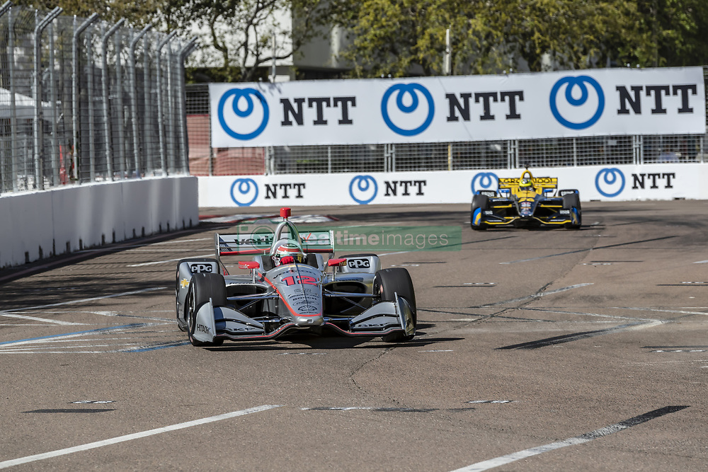 March 8, 2019 - St. Petersburg, Florida, U.S. - WILL POWER (12) of Australia goes through the turns during practice for the Firestone Grand Prix of St. Petersburg at Temporary Waterfront Street Course in St. Petersburg, Florida. (Credit Image: © Walter G Arce Sr Asp Inc/ASP)