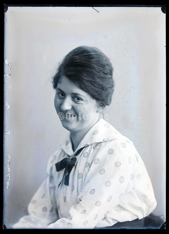 smiling woman portrait circa 1920s
