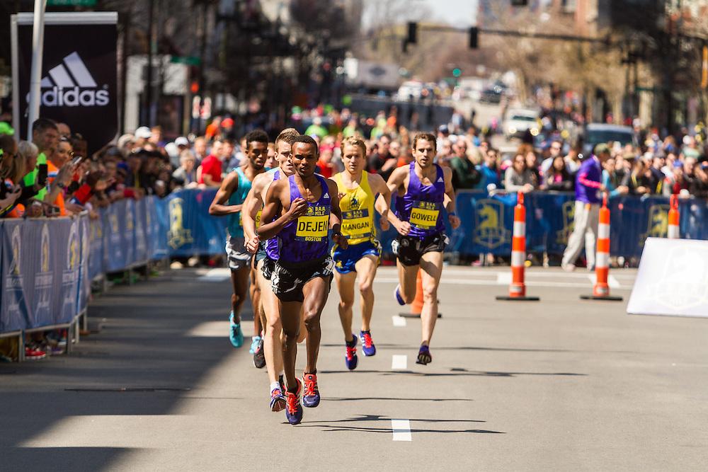 Boston Marathon: BAA 5K road race, Invitational Mens Mile, Dejen Gebremeskel