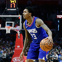 13 January 2018: LA Clippers guard Lou Williams (23) dribbles during the LA Clippers 126-105 victory over the Sacramento Kings, at the Staples Center, Los Angeles, California, USA.
