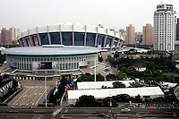 SHANGHAI STADIUM BEFORE SPECIAL OLYMPICS WORLD SUMMER GAMES SHANGHAI 2007..SPECIAL OLYMPICS IS AN INTERNATIONAL ORGANIZATION DEDICATED TO EMPOWERING INDIVIDUALS WITH INTELLECTUAL DISABILITIES..SHANGHAI , CHINA , SEPTEMBER 30, 2007.( PHOTO BY ADAM NURKIEWICZ / MEDIASPORT )..