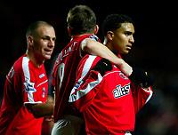 Fotball<br /> Premier League England 2004/2005<br /> Foto: BPI/Digitalsport<br /> NORWAY ONLY<br /> <br /> Charlton Athletic v Fulham <br /> FA Barclays Premiership<br /> 20/12/2004<br /> <br /> Jerome Thomas celebrates his opener for Charlton.