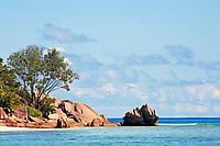 granite rocks of praslin island inseychelles indian ocean
