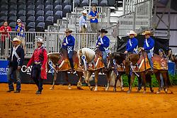 Amerikanisches Reining Team<br /> Tryon - FEI World Equestrian Games™ 2018<br /> Siegerehrung Teams<br /> Reining Teamwertung und 1.Einzelqualifikation<br /> 12. September 2018<br /> © www.sportfotos-lafrentz.de/Stefan Lafrentz