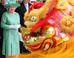 HM Queen visits the Toa Payoh Housing Estate on the first day of her State Visit to SIngapore..Photo by Ian Jones.
