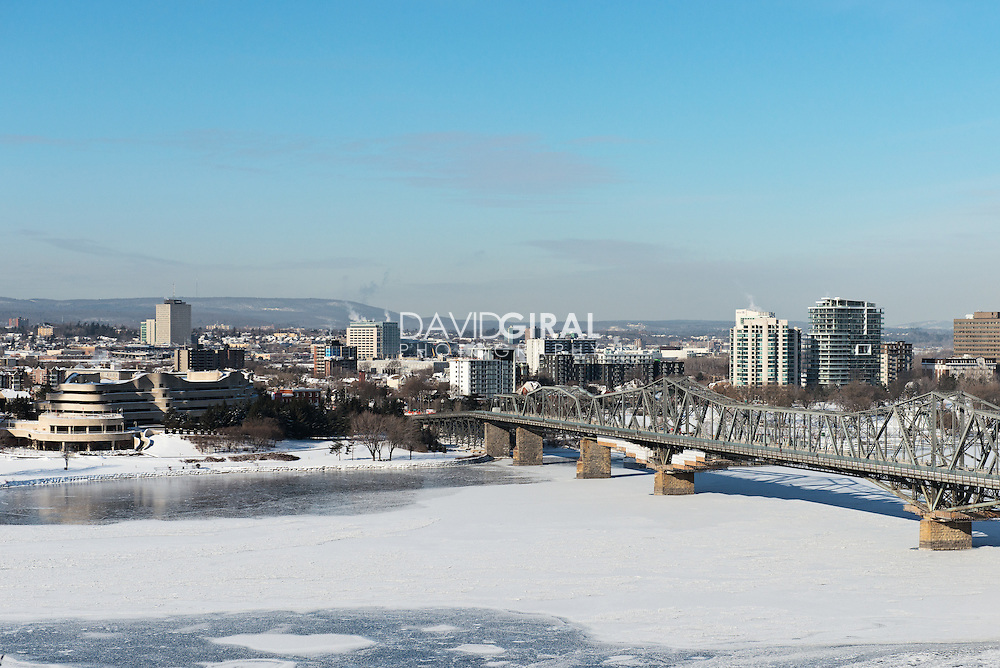 View Of Gatineau and Alexandra Bridge from Parliament Hill, Ottawa