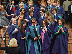 Bodyguard and Game of Thrones star Richard Madden received an honorary degree for contribution to drama from the Royal Conservatoire of Scotland. He joined fellow students who graduated with BA in drama.<br /> <br /> © Dave Johnston / EEm