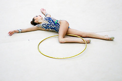 competes during 31st MTM - International tournament in rhythmic gymnastics Ljubljana, on April 7, 2018 in Gymnastics center Ljubljana, Ljubljana, Slovenia. Photo by Matic Klansek Velej / Sportida