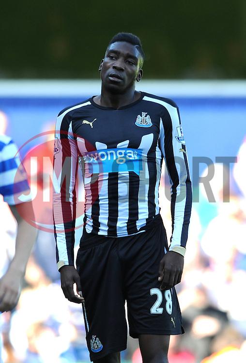 Newcastle United's Sammy Ameobi cuts a dejected figure - Photo mandatory by-line: Dougie Allward/JMP - Mobile: 07966 386802 - 16/05/2015 - SPORT - football - London - Loftus Road - QPR v Newcastle United - Barclays Premier League