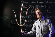 """Physics: Geneva, Switzerland/CERN: John Bell (b.1928), Theoretical Physicist. John Bell was a theoretical physicist at CERN, the European laboratory for particle physics. He invented the """"Bell inequalities"""" which allowed a better understanding of the foundations of quantum mechanics, the physics of the very small. MODEL RELEASED [1987]"""