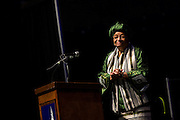Liberian President Ellen Johnson Sirleaf delivered the Presidential Speaker Series lecture Oct. 4. (Photo by Ryan Sullivan)