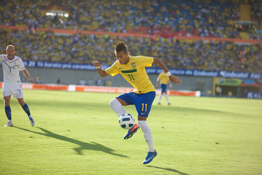 Goiania, Brazil - June 04, 2011 : Neymar during the friendly game Brazil X Netherlands   (Photo:Caio Guatelli)