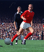 Bobby Charlton in action for Manchester United, 1st September 1970.