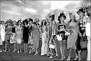 THE FINALISTS FOR THE BEST DRESSED LADIES LINE UP AT THE BUDWEISER IRISH DERBY.PIC:MARC O'SULLIVAN