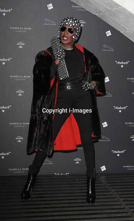 Grace Jones  arriving at the opening of the  Isabella Blow at the Isabella Blow exhibition at Somerset House in London, Tuesday, 19th November 2013   Photo by: i-Images