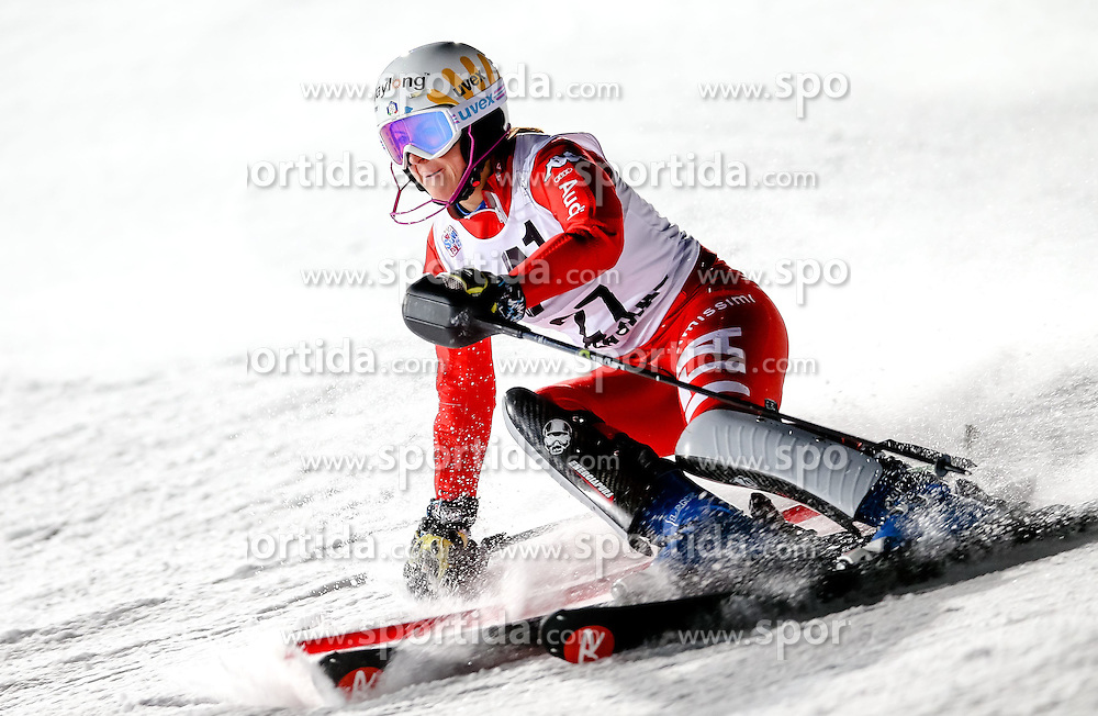 13.01.2015, Hermann Maier Weltcupstrecke, Flachau, AUT, FIS Weltcup Ski Alpin, Flachau, Slalom, Damen, 1. Lauf, im Bild Irene Curtoni (ITA) // Irene Curtoni of Italy in action during 1st run of the ladie's Slalom of the FIS Ski Alpine World Cup at the Hermann Maier Weltcupstrecke in Flachau, Austria on 2015/01/13. EXPA Pictures © 2015, PhotoCredit: EXPA/ Johann Groder