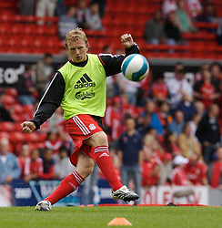 Liverpool, England - Saturday, September 1, 2007: Liverpool's Dirk Kuyt before the Premiership match against Derby County at Anfield. (Photo by David Rawcliffe/Propaganda)