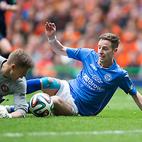 St Johnstone v Dundee United....17.05.14   William Hill Scottish Cup Final<br /> Steven Maclean's shot is blocked by Radoslaw Czierzniak before sliping under his legs for Steven MacLean to put the ball in the back of the net to make it 2-0<br /> Picture by Graeme Hart.<br /> Copyright Perthshire Picture Agency<br /> Tel: 01738 623350  Mobile: 07990 594431