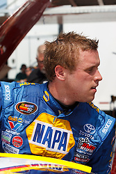 STOCKTON, CA - MAY 03:  Brandon McReynolds driver of the #16 NAPA Auto Parts Toyota stands outside his car during practice before the NASCAR K&N Pro Series West Stockton 150 at the Stockton 99 Speedway on May 3, 2014 in Stockton, California. (Photo by Jason O. Watson/Getty Images for NASCAR) *** Local Caption *** Brandon McReynolds