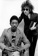 Poets - Linton Kwesi Johnson and John Cooper Clark - London Studio Photosession - 1978