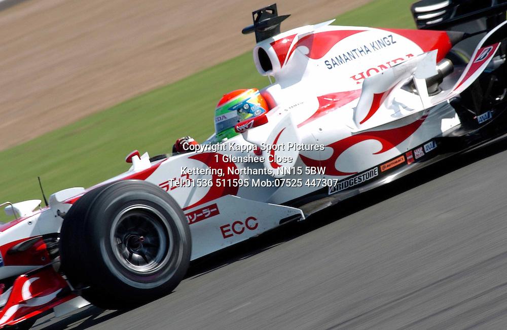 SAKON YAMAMOTO Japan Super Aguri SA06  F1 Formula One Test Silverstone 19th September 2006 :Photo Mike Capps