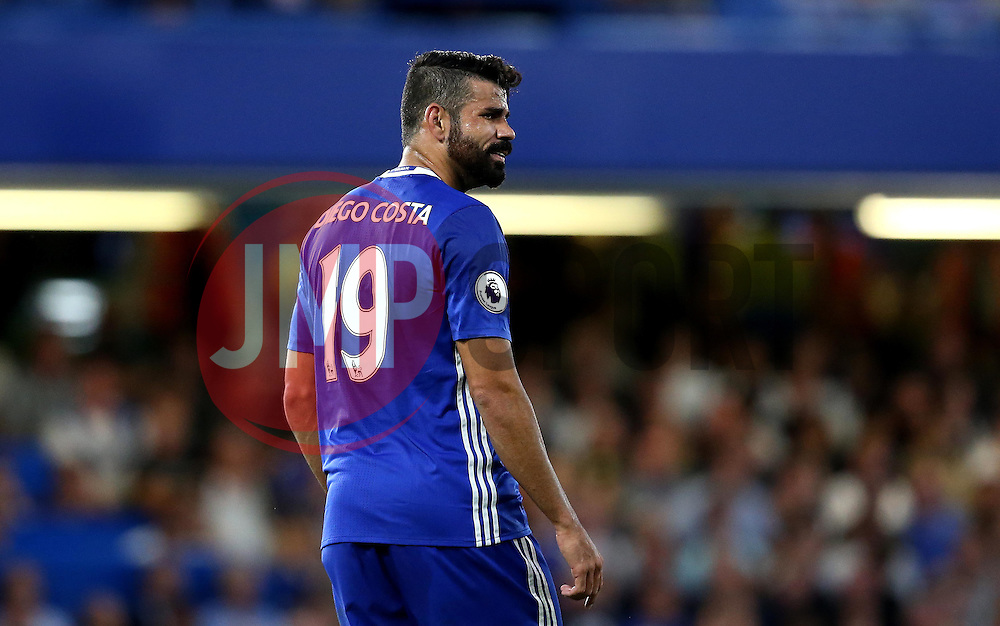 Diego Costa of Chelsea looks frustrated - Mandatory by-line: Robbie Stephenson/JMP - 15/08/2016 - FOOTBALL - Stamford Bridge - London, England - Chelsea v West Ham United - Premier League