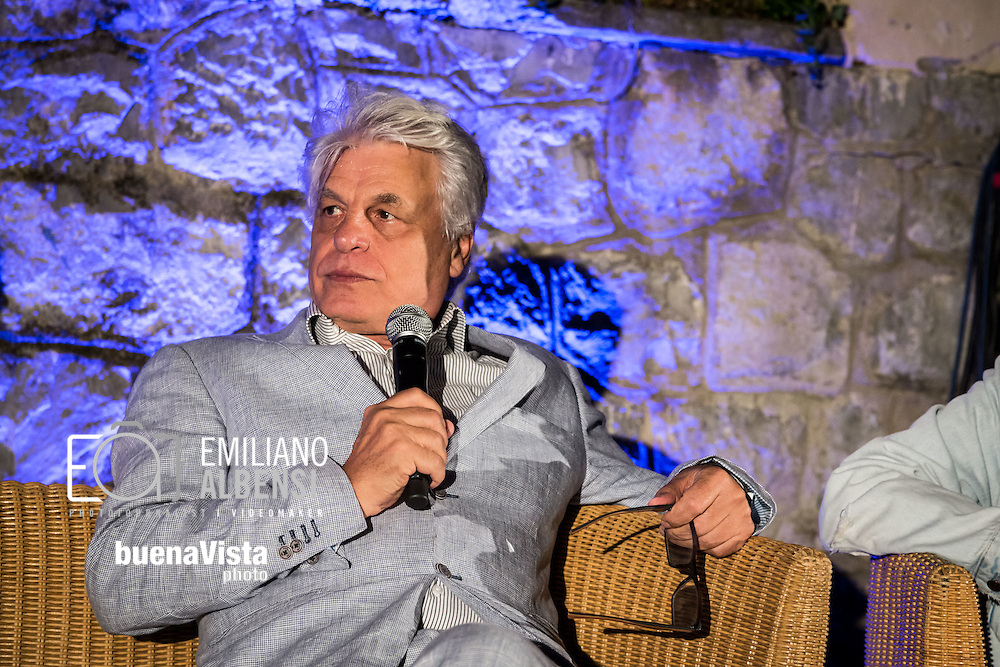 Maratea, Basilicata, Italia, 18/08/2014<br /> L'attore lucano Michele Placido alla Settimana del Cinema di Maratea 2014<br /> <br /> Maratea, Basilicata, Italy, 18/08/2014<br /> The actor Michele Placido in Maratea for the Week of Cinema 2014