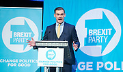 Brexit Party event<br /> Nigel Farage and Ann Widdecombe in Peterborough for a rally with the Brexit Party&rsquo;s Eastern region European election candidates. <br /> at King's Gate Conference Centre, Peterborough, Great Britain <br /> 7th May 2019 <br /> <br /> Michael Heaver<br /> European election candidate <br /> <br /> <br /> Photograph by Elliott Franks